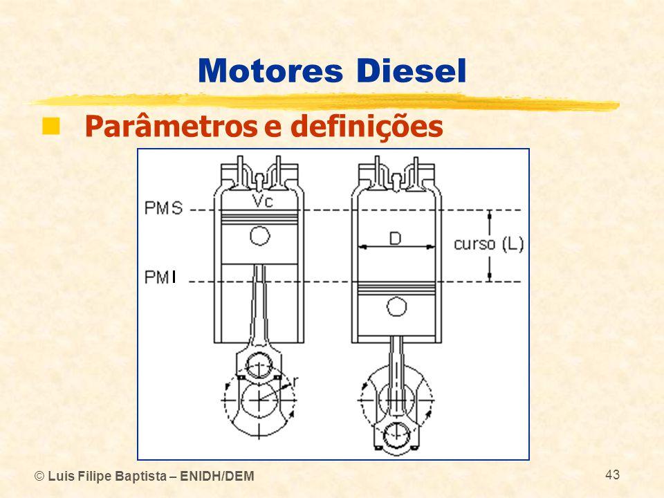 Motores Diesel Parâmetros e definições