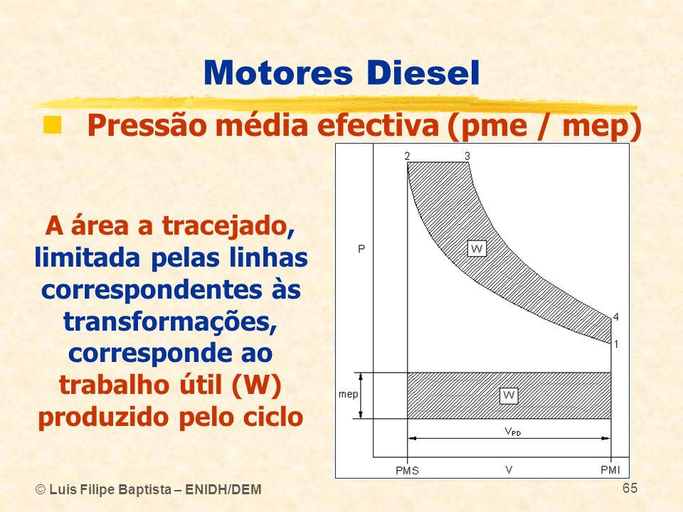 Motores Diesel Pressão média efectiva (pme / mep)