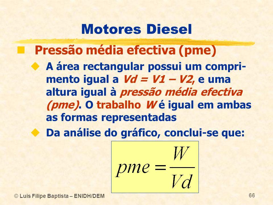 Motores Diesel Pressão média efectiva (pme)