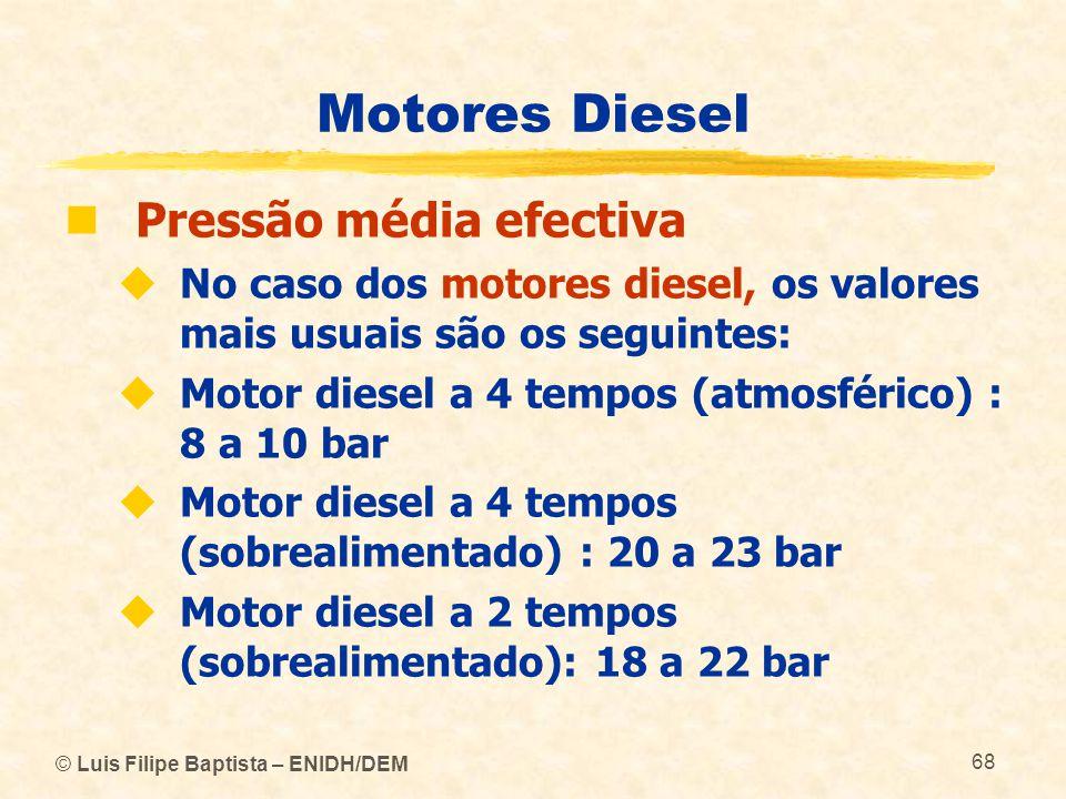Motores Diesel Pressão média efectiva