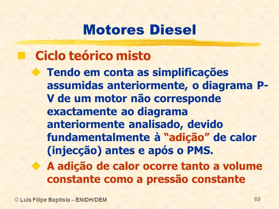 Motores Diesel Ciclo teórico misto