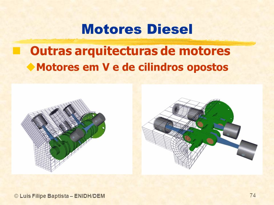 Motores Diesel Outras arquitecturas de motores