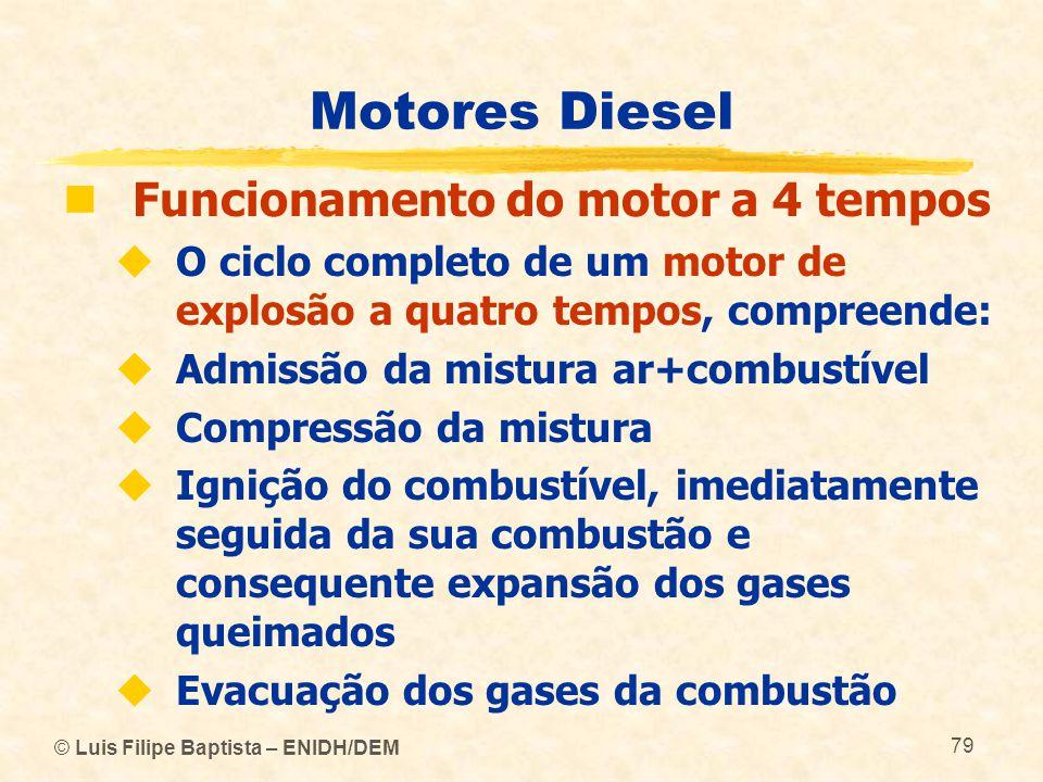 Motores Diesel Funcionamento do motor a 4 tempos