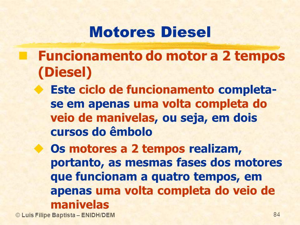 Motores Diesel Funcionamento do motor a 2 tempos (Diesel)