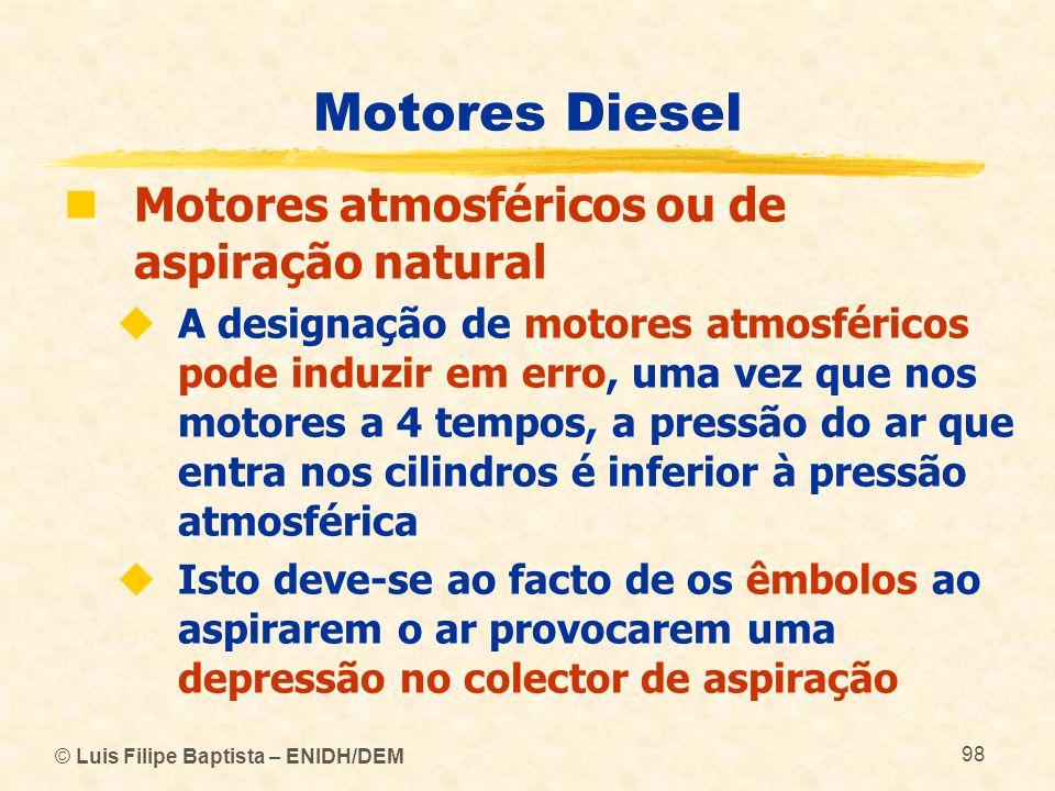 Motores Diesel Motores atmosféricos ou de aspiração natural
