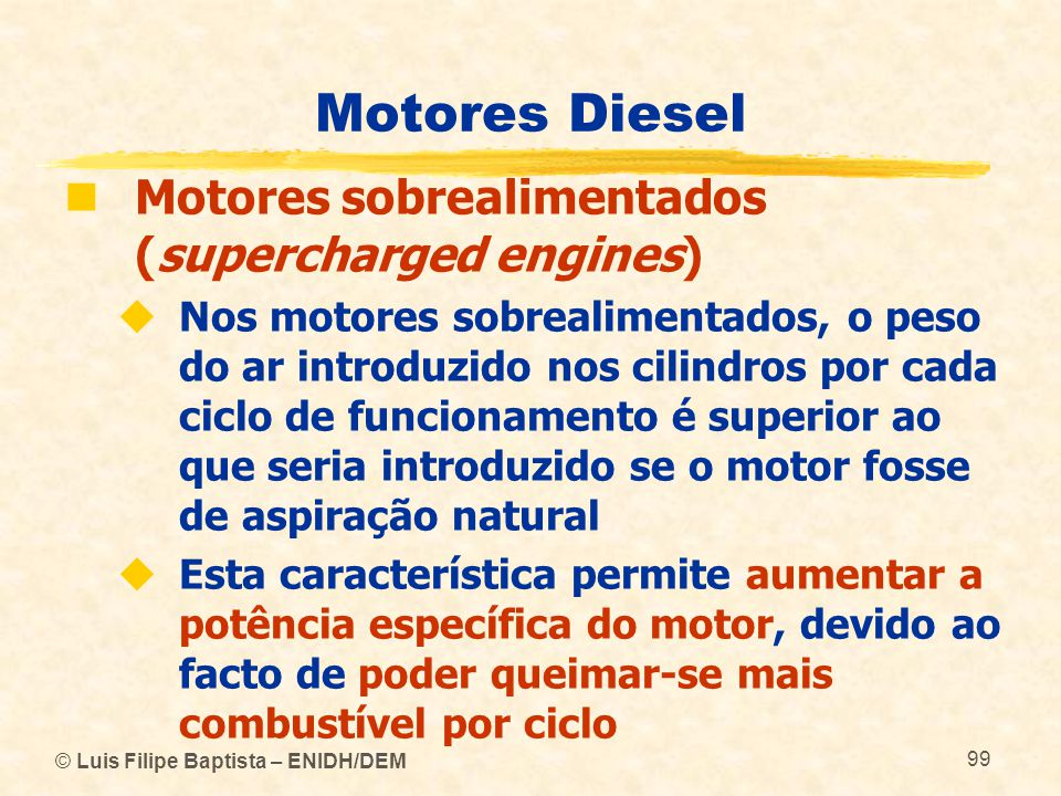 Motores Diesel Motores sobrealimentados (supercharged engines)