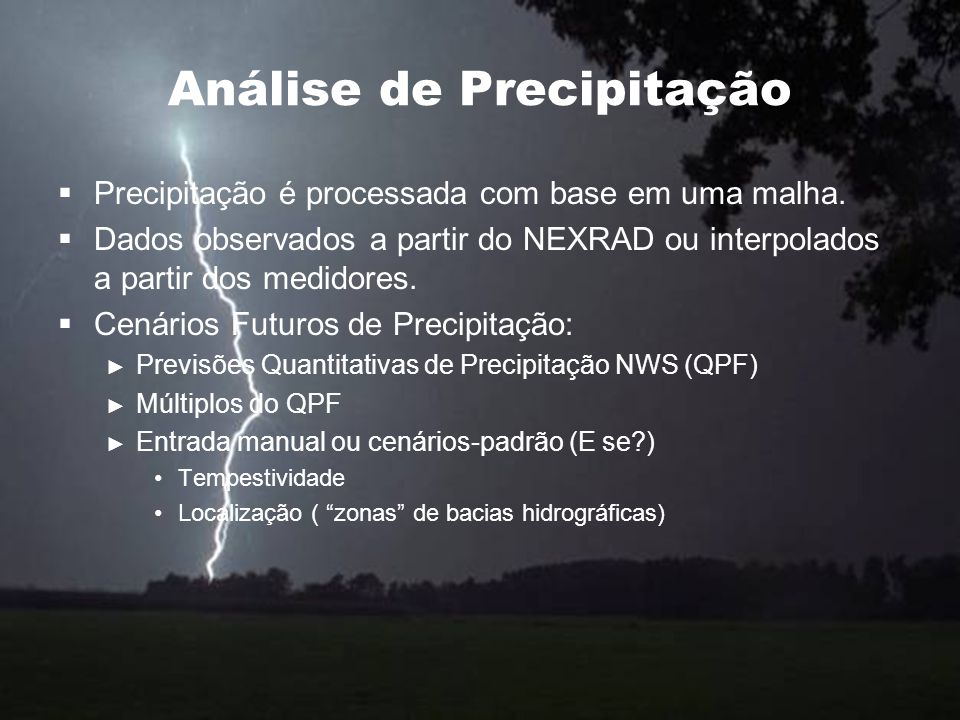 Análise de Precipitação