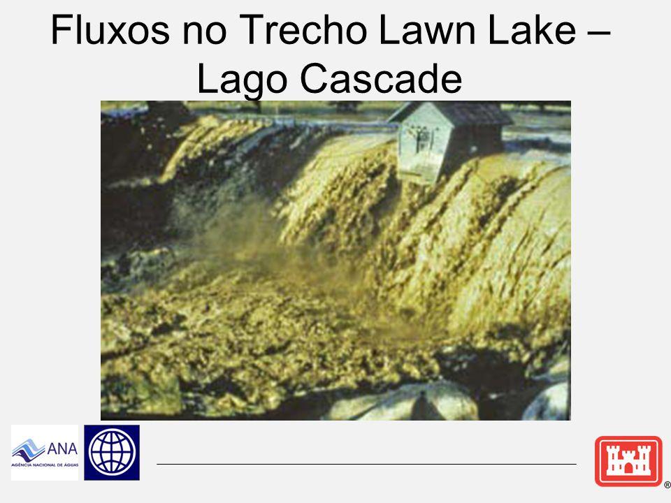 Fluxos no Trecho Lawn Lake – Lago Cascade