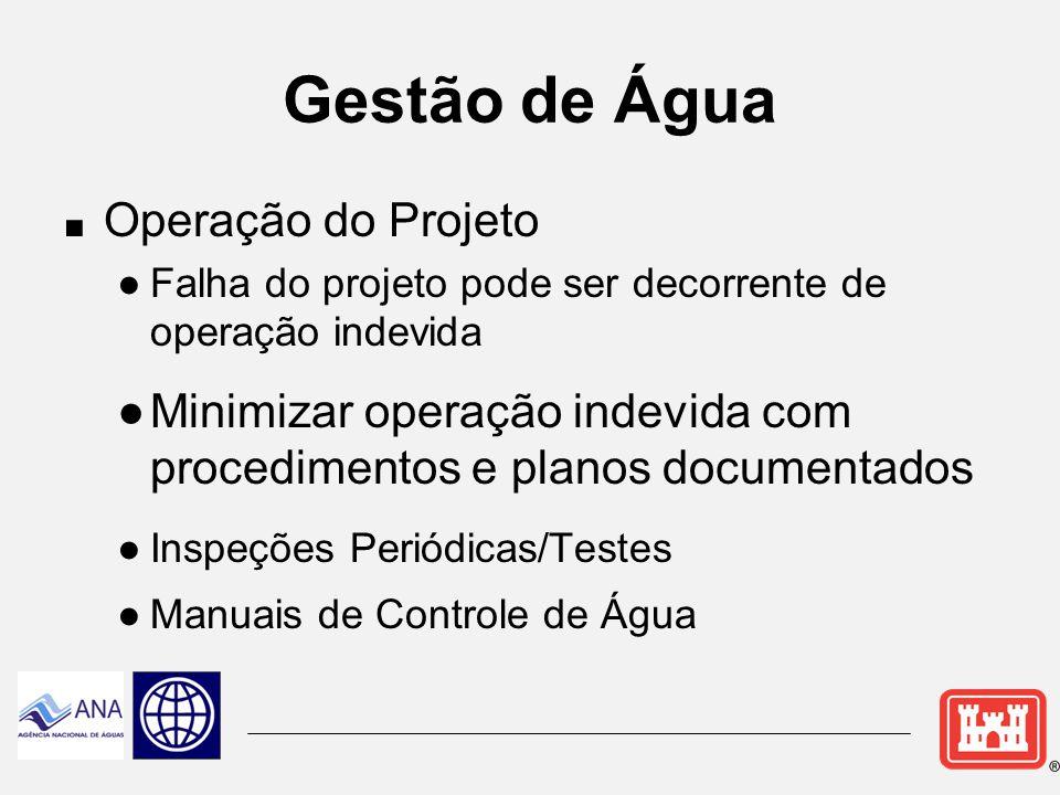 Gestão de Água Operação do Projeto