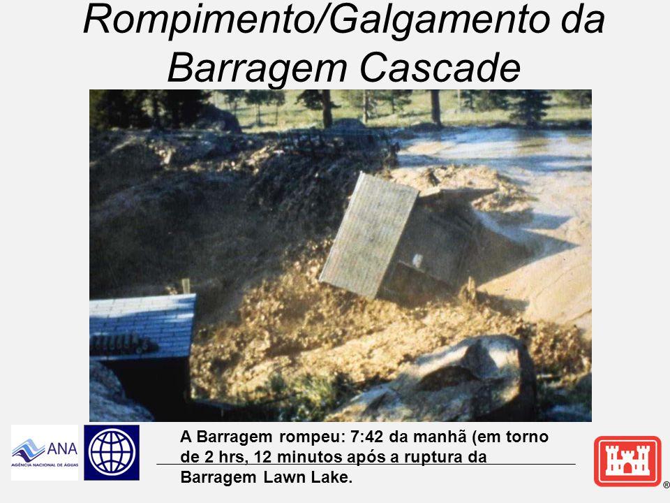 Rompimento/Galgamento da Barragem Cascade
