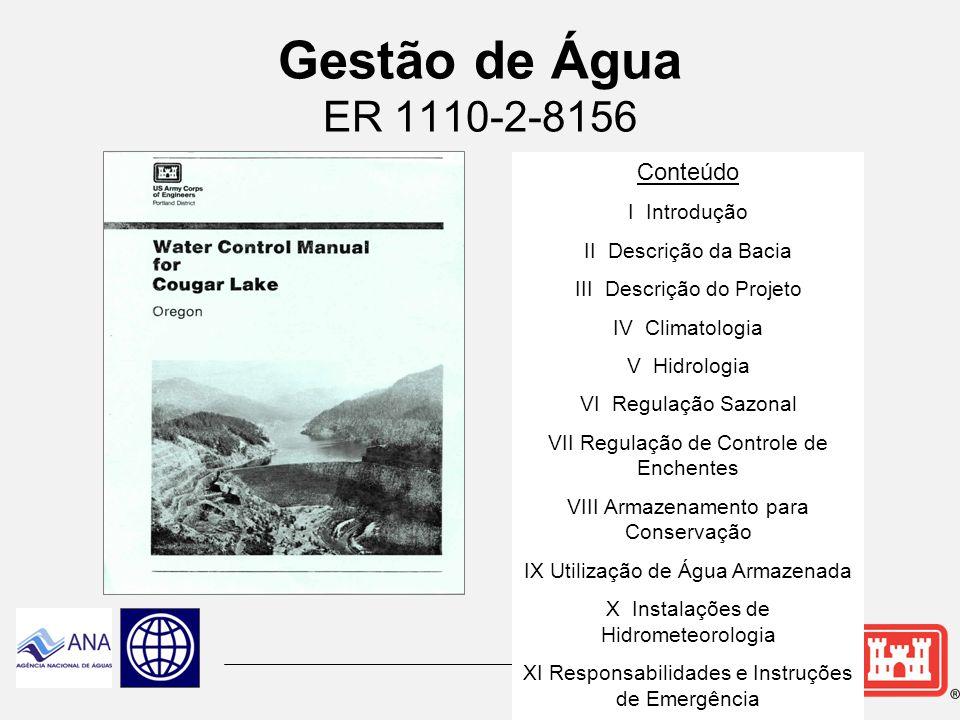 Gestão de Água ER 1110-2-8156 Conteúdo I Introdução