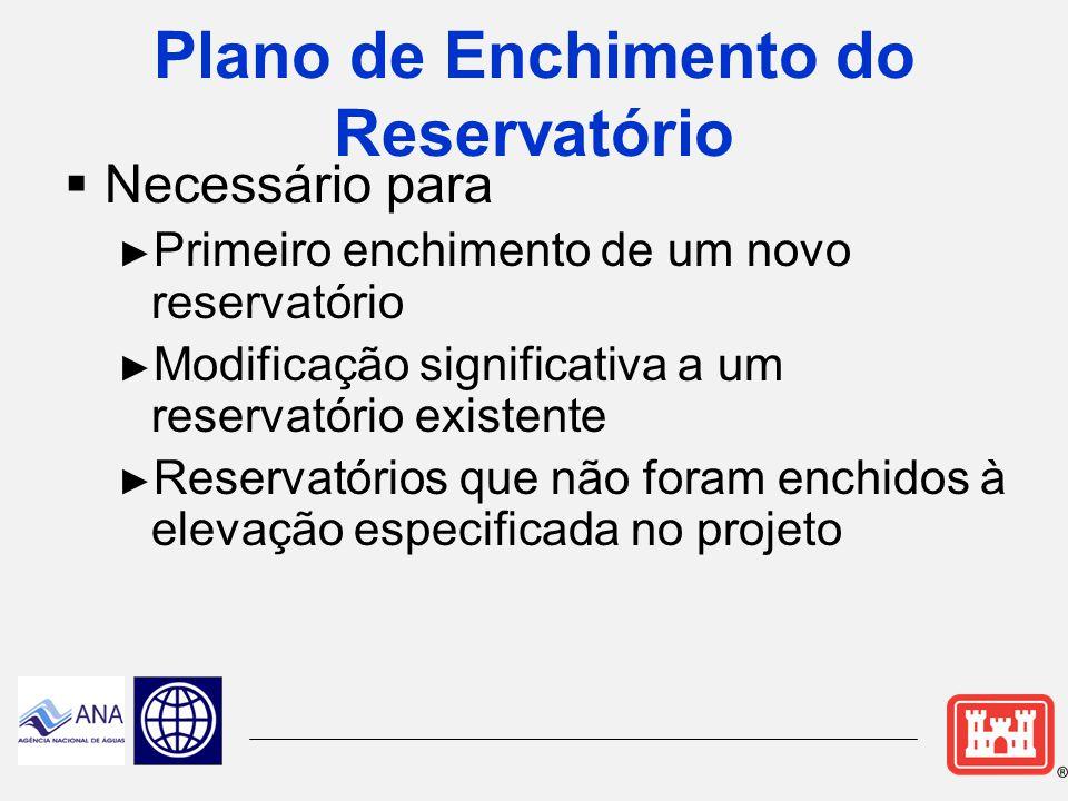 Plano de Enchimento do Reservatório