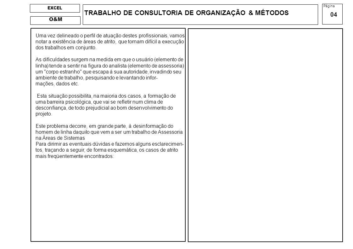 TRABALHO DE CONSULTORIA DE ORGANIZAÇÃO & MÉTODOS