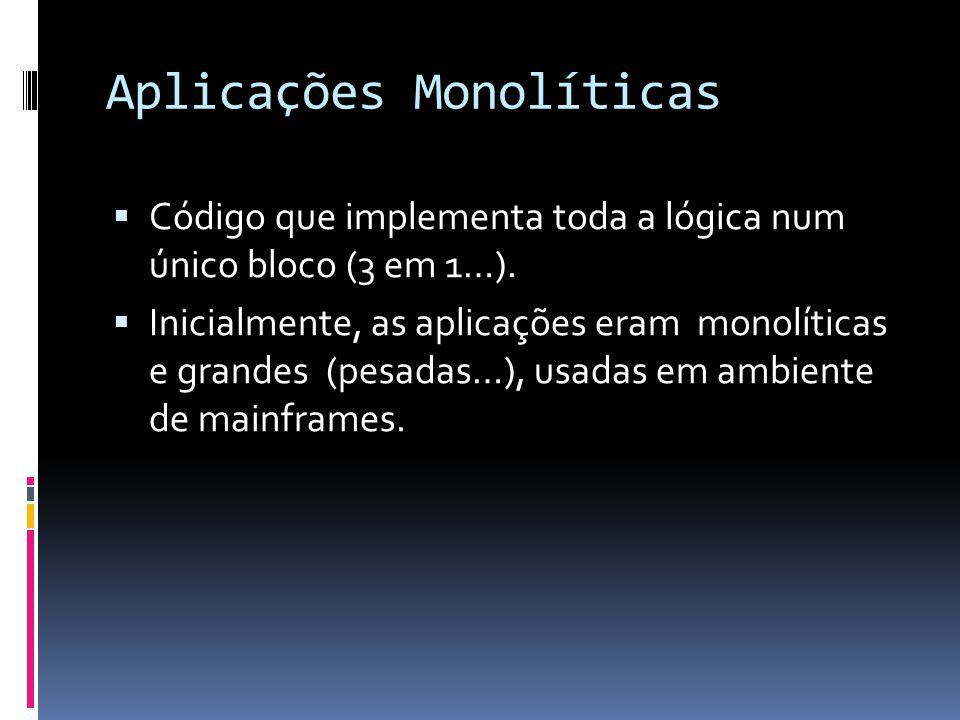 Aplicações Monolíticas