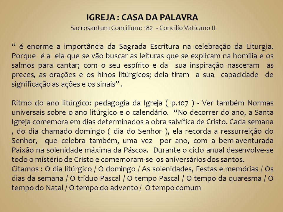 IGREJA : CASA DA PALAVRA