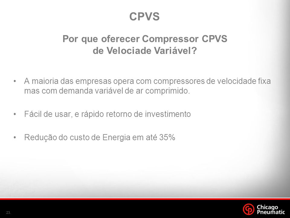 Por que oferecer Compressor CPVS