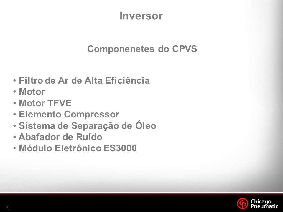 Inversor Componenetes do CPVS Filtro de Ar de Alta Eficiência Motor