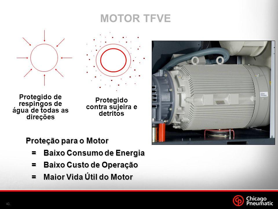 MOTOR TFVE Proteção para o Motor = Baixo Consumo de Energia