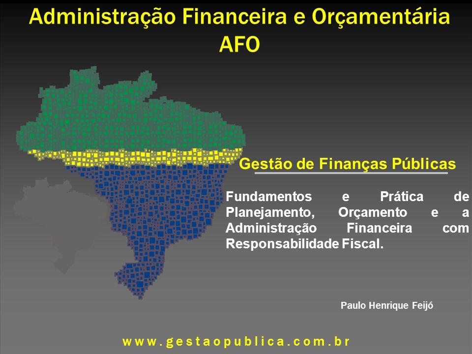 Administração Financeira e Orçamentária AFO
