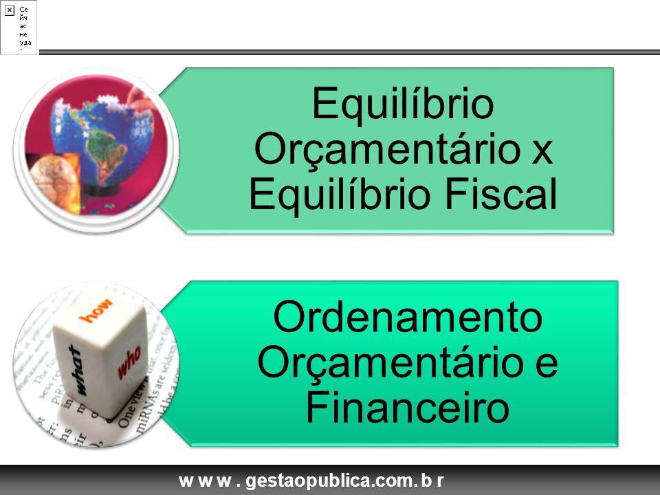 Equilíbrio Orçamentário x Equilíbrio Fiscal
