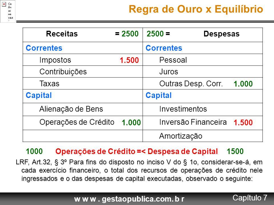 Operações de Crédito =< Despesa de Capital
