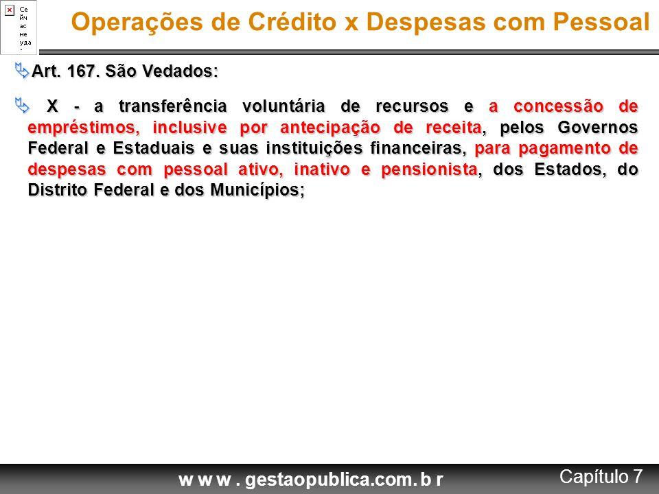 Operações de Crédito x Despesas com Pessoal