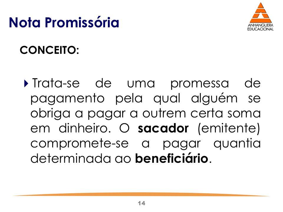 Nota Promissória CONCEITO: