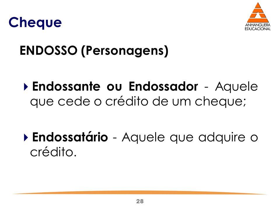 Cheque ENDOSSO (Personagens)