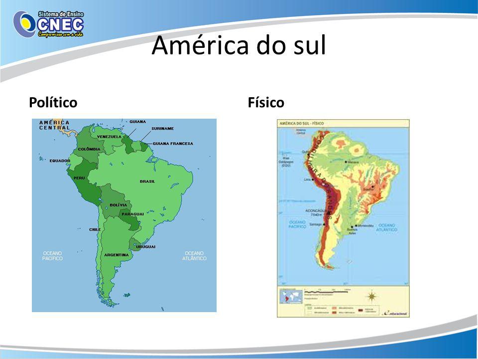 América do sul Político Físico
