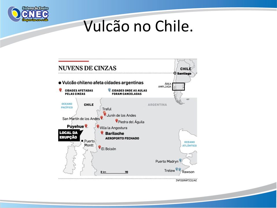Vulcão no Chile.