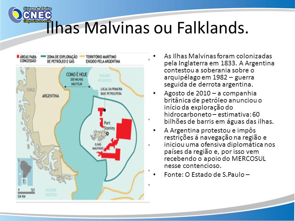 Ilhas Malvinas ou Falklands.