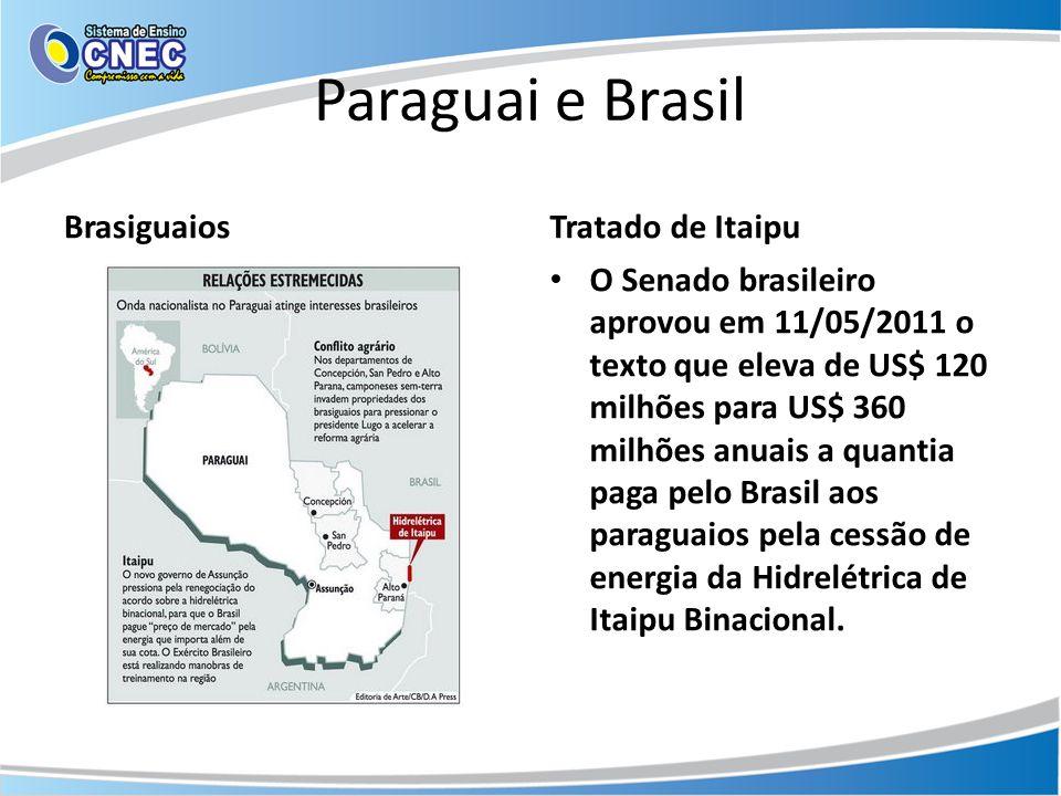 Paraguai e Brasil Brasiguaios Tratado de Itaipu