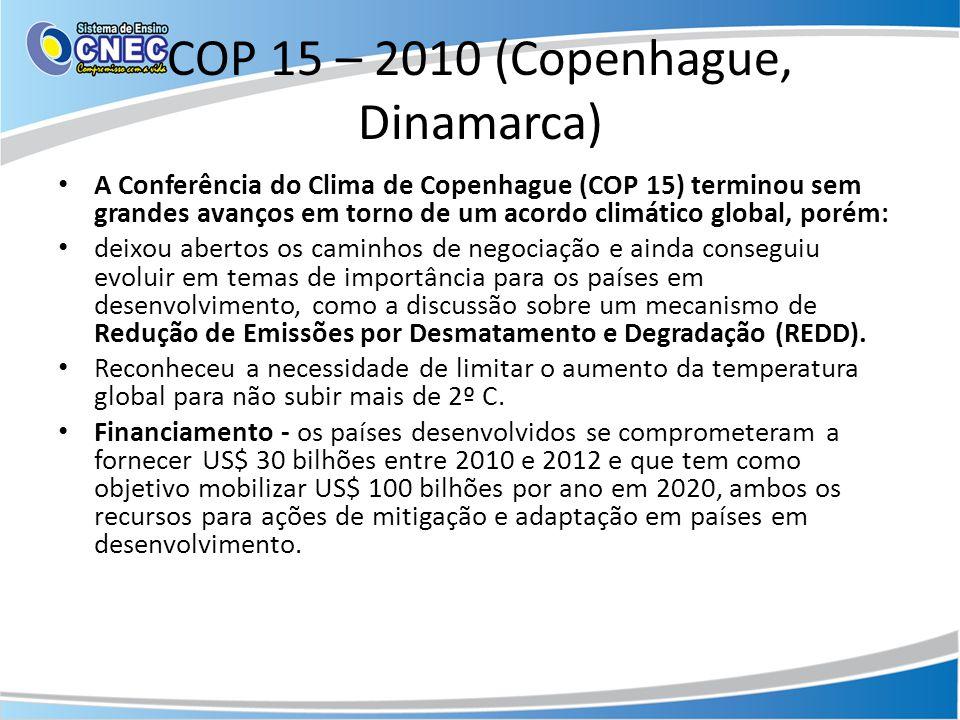 COP 15 – 2010 (Copenhague, Dinamarca)