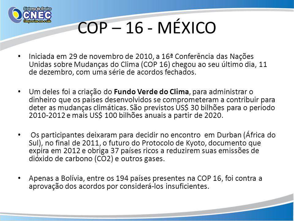 COP – 16 - MÉXICO