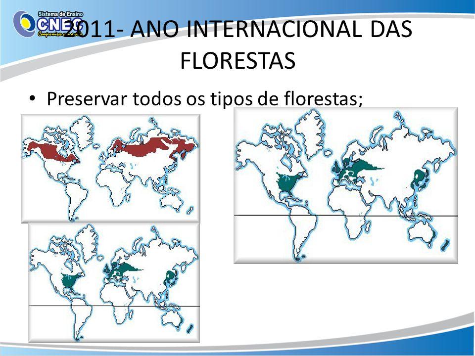 2011- ANO INTERNACIONAL DAS FLORESTAS