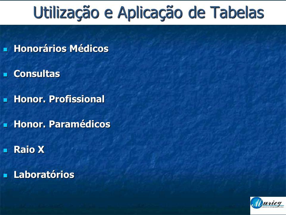 Utilização e Aplicação de Tabelas