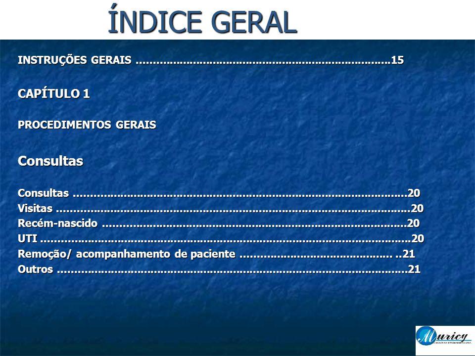 ÍNDICE GERAL Consultas CAPÍTULO 1