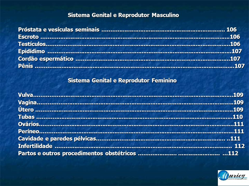 Sistema Genital e Reprodutor Masculino