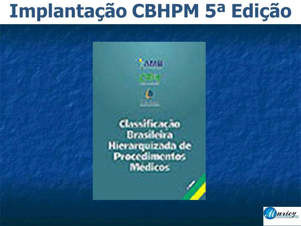 Implantação CBHPM 5ª Edição