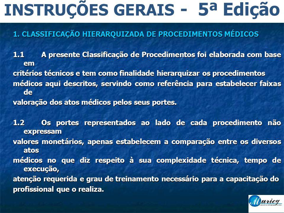 INSTRUÇÕES GERAIS - 5ª Edição