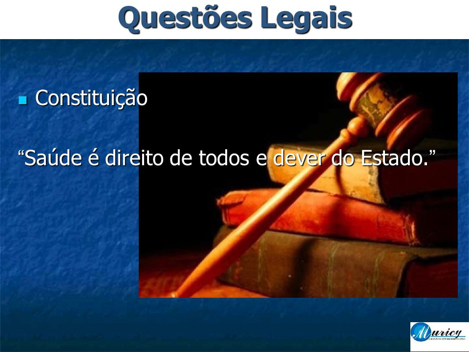 Questões Legais Constituição