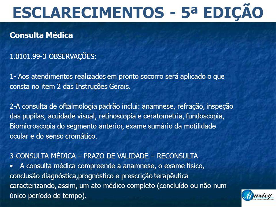 ESCLARECIMENTOS - 5ª EDIÇÃO