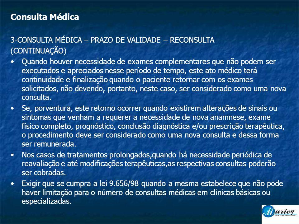 Consulta Médica 3-CONSULTA MÉDICA – PRAZO DE VALIDADE – RECONSULTA