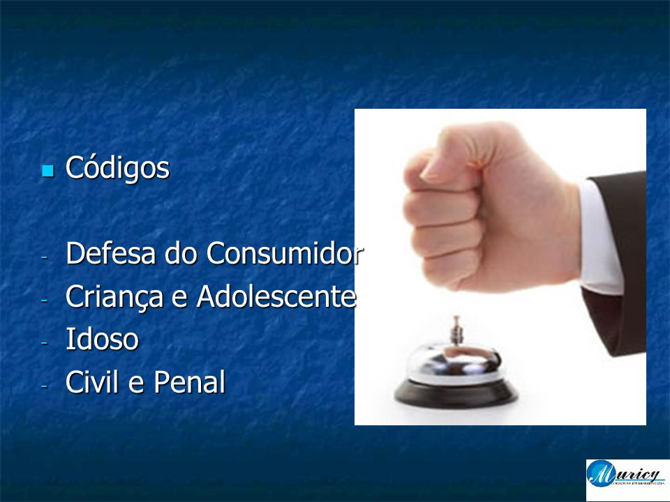 Códigos Defesa do Consumidor Criança e Adolescente Idoso Civil e Penal