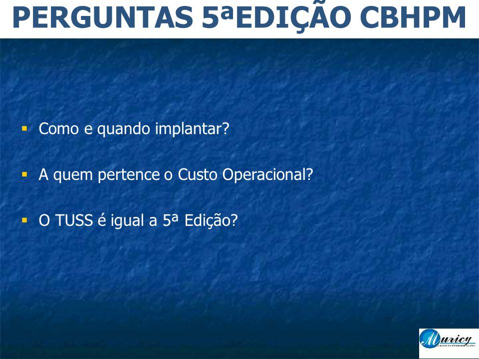 PERGUNTAS 5ªEDIÇÃO CBHPM