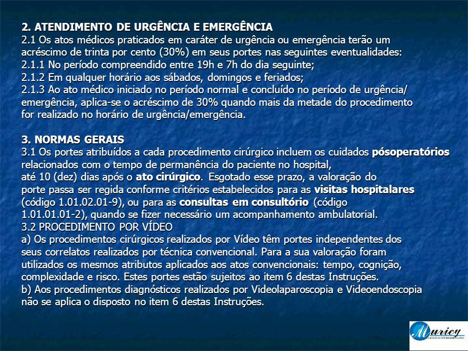 2. ATENDIMENTO DE URGÊNCIA E EMERGÊNCIA