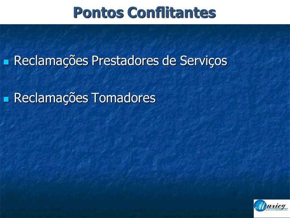 Pontos Conflitantes Reclamações Prestadores de Serviços