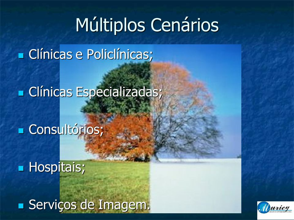 Múltiplos Cenários Clínicas e Policlínicas; Clínicas Especializadas;