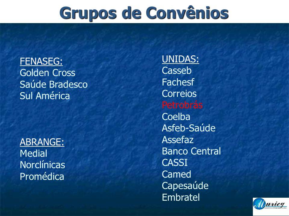 Grupos de Convênios UNIDAS: FENASEG: Casseb Golden Cross Fachesf