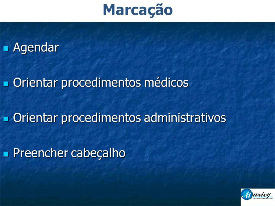 Marcação Agendar Orientar procedimentos médicos